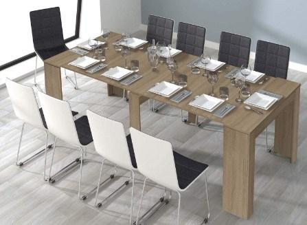 mesa extensible de comedor tipo consola
